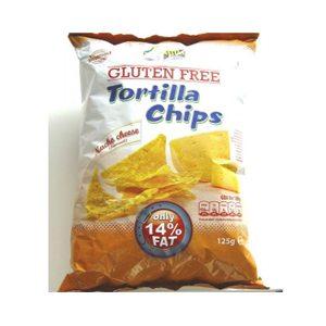 Tortilla chips-sajtos